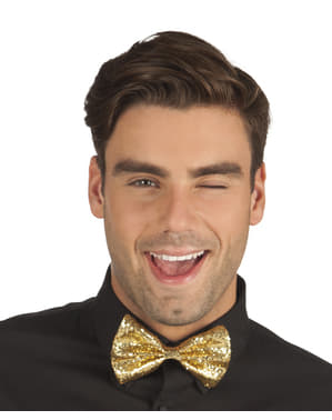 Mens golden bow tie