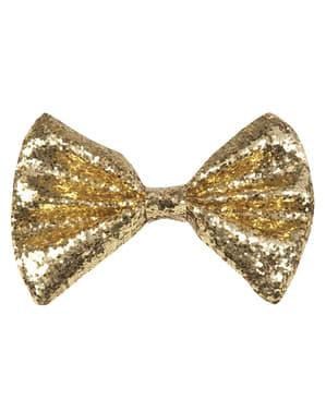 Nœud papillon doré homme