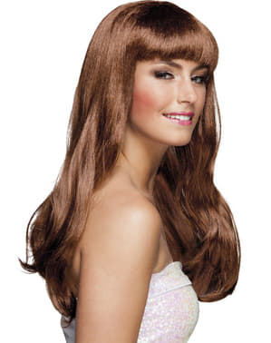 Womens brown Chique wig