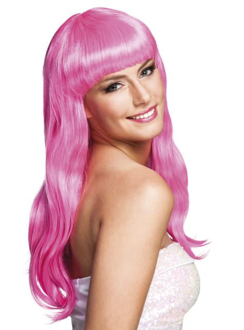 Peluca Chique rosa sexy para mujer