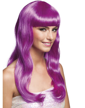 Дамска перука от лилаво