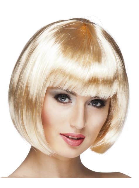 Womens blonde cabaret wig
