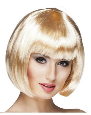 Naisten vaalea kabaree-peruukki