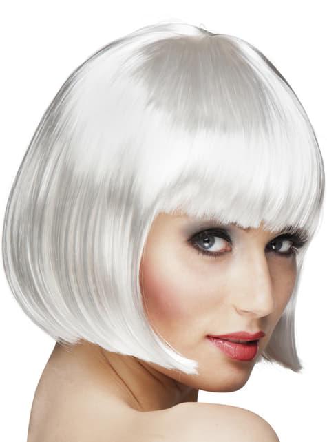 Peluca Cabaret blanca para mujer