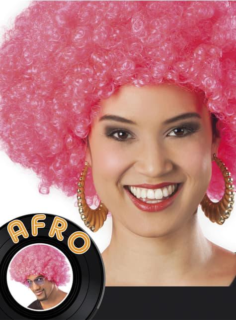 Peluca afro rosa unisex - original