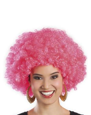 Paruka afro růžová unisex
