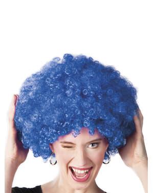 Blauwe afro pruik unisex