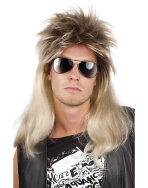 Perruque rock blonde homme
