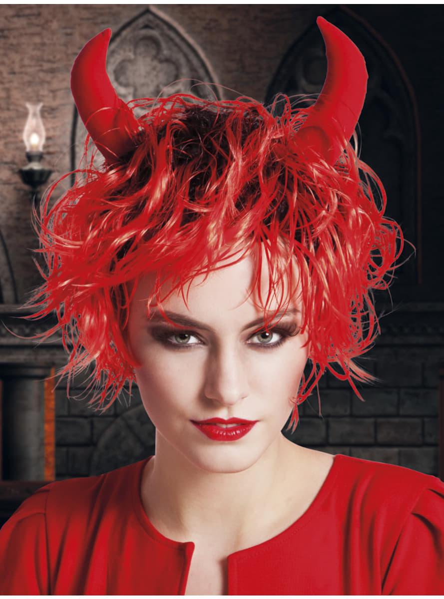 Peluca De Diabla Para Mujer Entrega Rapida Funidelia - Como-maquillar-a-una-diabla