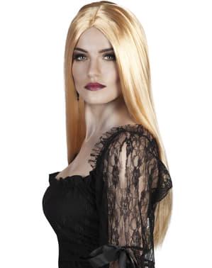 Naisten vaalea noitaperuukki