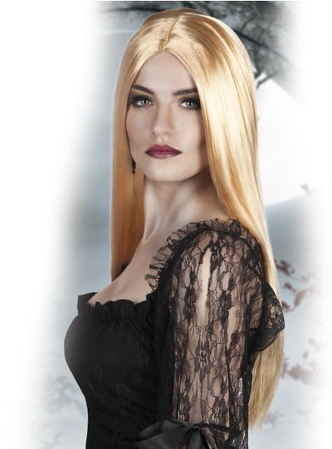 Peluca de bruja color rubio para mujer - para tu disfraz