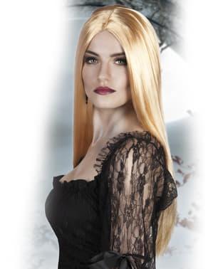 Hexen Perücke blond für Damen
