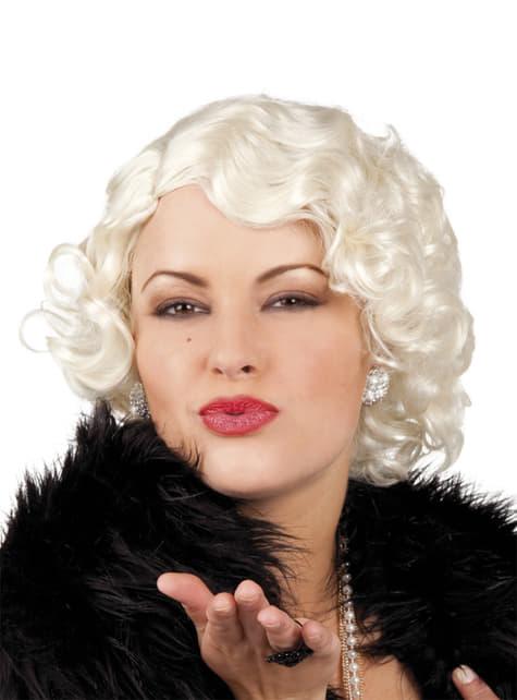 Dámská paruka blond kudrnaté mikádo