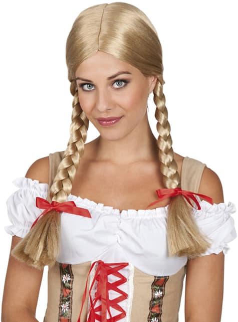 Blonde pruik Heidi voor vrouw