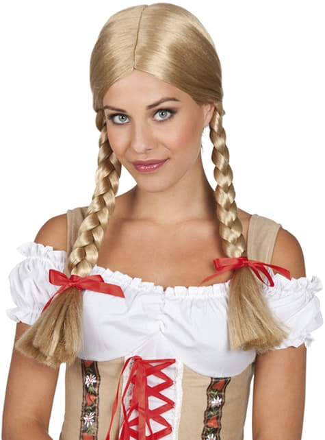 Womens blonde Heidi wig