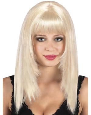 Blonde pruik pittig voor vrouw