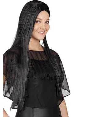Parrucca con capelli lunghi bruni da donna