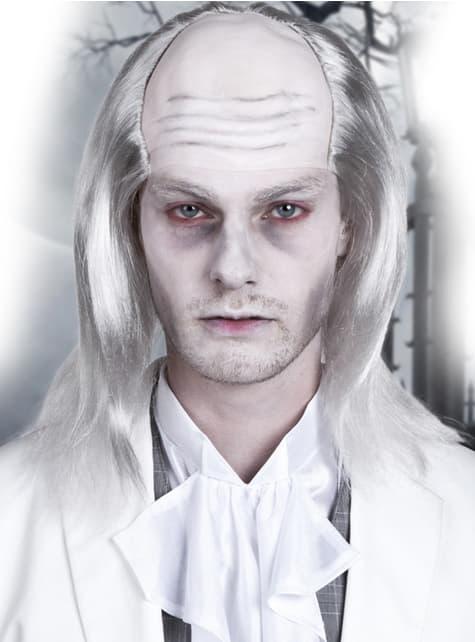 Peluca de zombie blanco para hombre