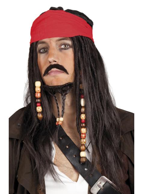 Mens Tobias the Pirate accessories set