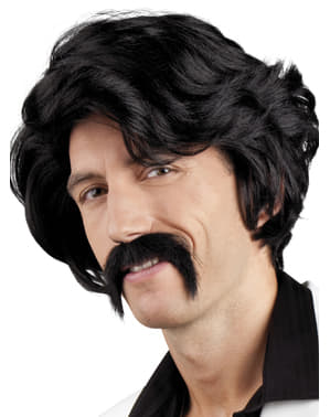 Mens Chuck wig and moustache set