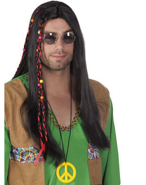 Peruca hippie para homem