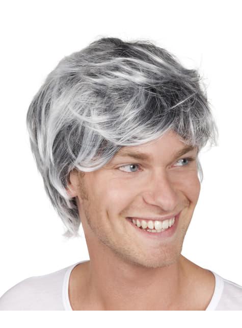 Peluca Tyler bicolor para hombre
