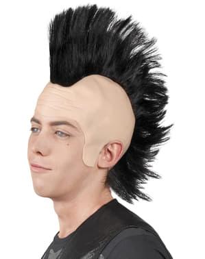 Perruque punk avec crête