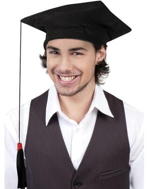Chapéu de graduado para adulto