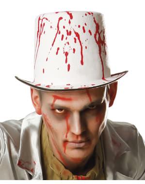 Blodig hatt til mann