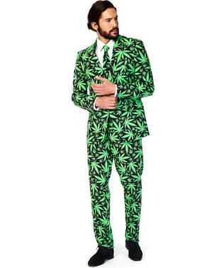 Abito con pattern Marijuana Cannabis