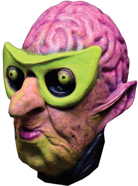 Máscara Atomic Alien Brainiac de látex