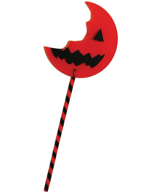 Trick or Treat reversible giant bitten lollipop