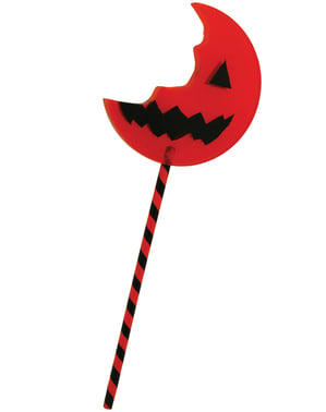 Trick or Treat reversible giant bitten lollipop