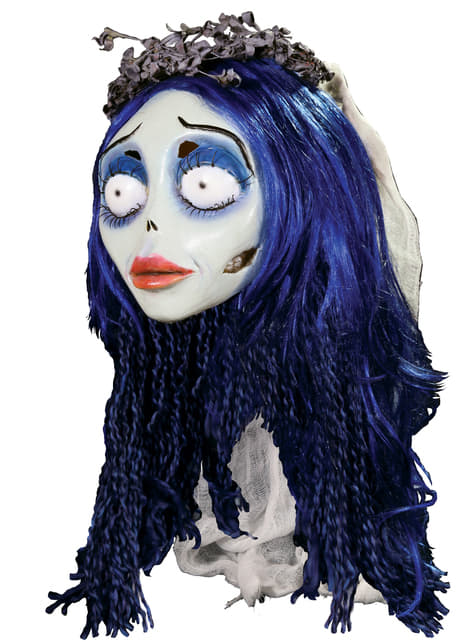 Máscara Emily de La Novia Cadáver de látex - para tu disfraz