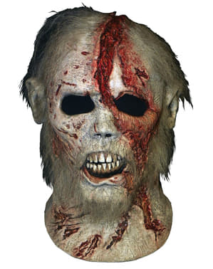Skjeggete Vandrer fra The Walking Dead latex maske