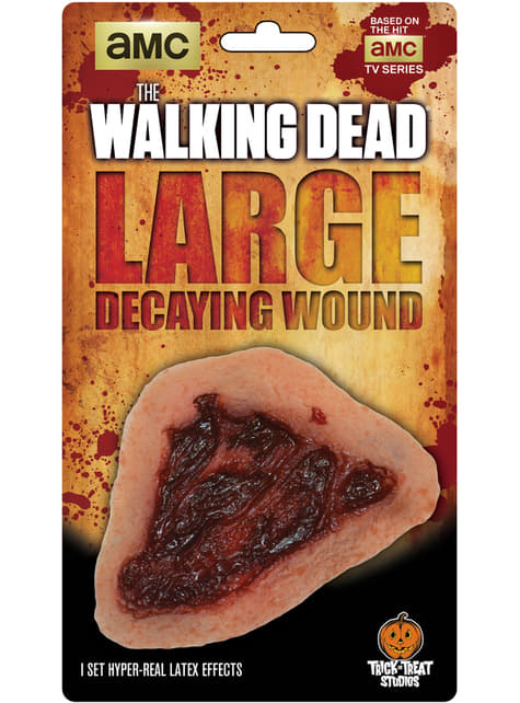 Prótese de ferida putrefacta The Walking Dead em látex