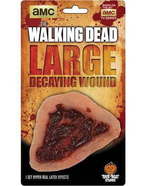 The Walking Dead mätänevä haava lateksiproteesi