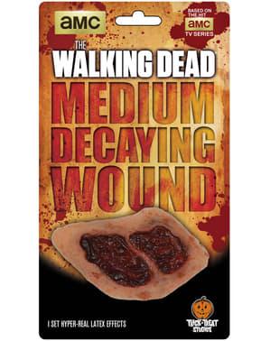 Proteza lateksowa zgniła rana The Walking Dead