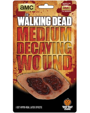 The Walking Dead rotting wound latex prosthesis