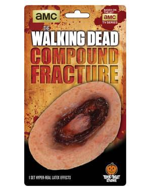 Prothèse fracture sanglante The Walking Dead latex