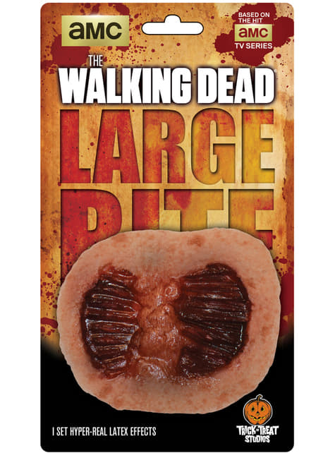 The Walking Dead ripped bite latex prosthesis