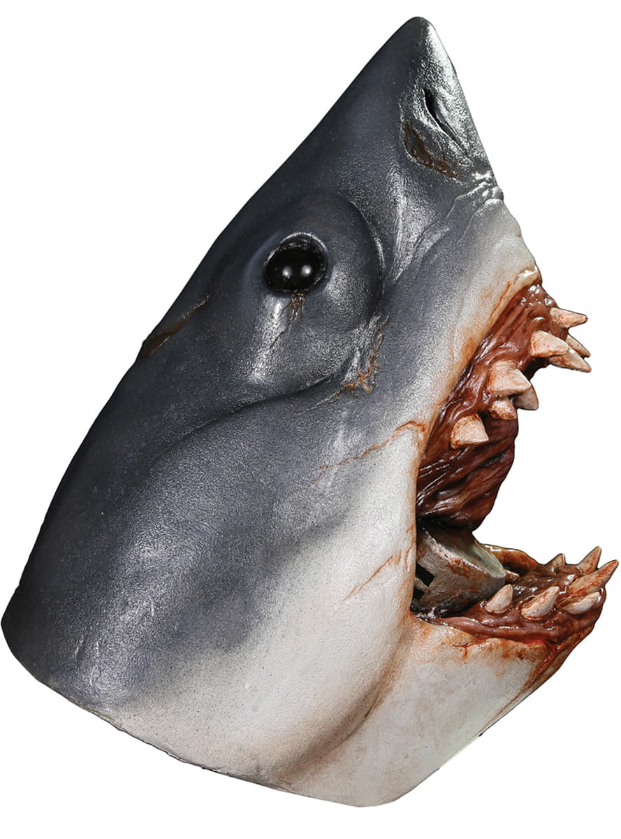 shark latex mask  the coolest
