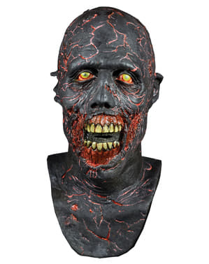 Aschen-Zombie Latex-Maske aus The Walking Dead