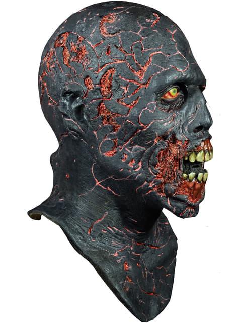Máscara de Caminante Carbonizado de The Walking Dead de látex - para tu disfraz