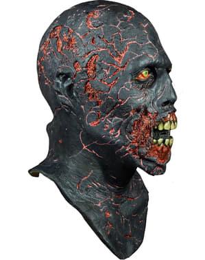 Latexová maska zuhelnatělý zombie (Živí mrtví)