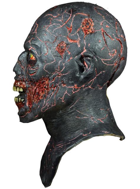 Máscara de Caminante Carbonizado de The Walking Dead de látex - original
