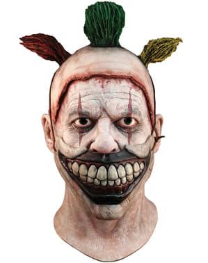 """Латексова маска на клоуна Туисти от """"Зловеща семейна история"""" с уста"""