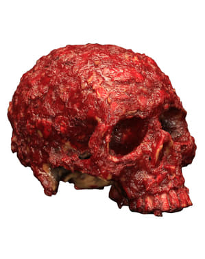 Rusty skull made of resin