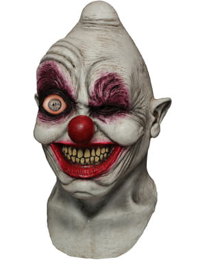 Crazy Eye Clown latex maske