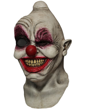 Masker van latex digitaal Crazy Eye Clown